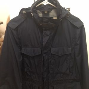 Men's Burberry Hooded Trench Military Jacket